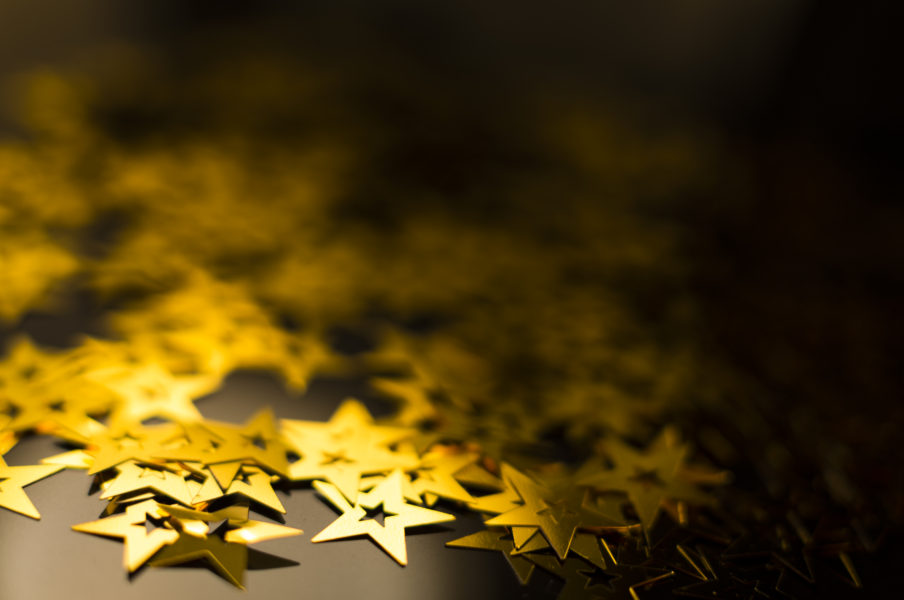 abstract black and gold star theme