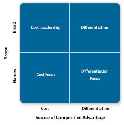 Examine the five competitive strategy options