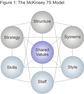 the mckinsey 7s framework - strategy skills from mindtools, Powerpoint templates