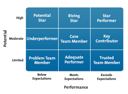 Nine-Box Grid for Talent Management Diagram