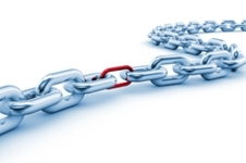 Chain with a weak link.
