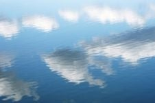 Sky reflected on water.