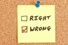 Right/Wrong Sticky Note