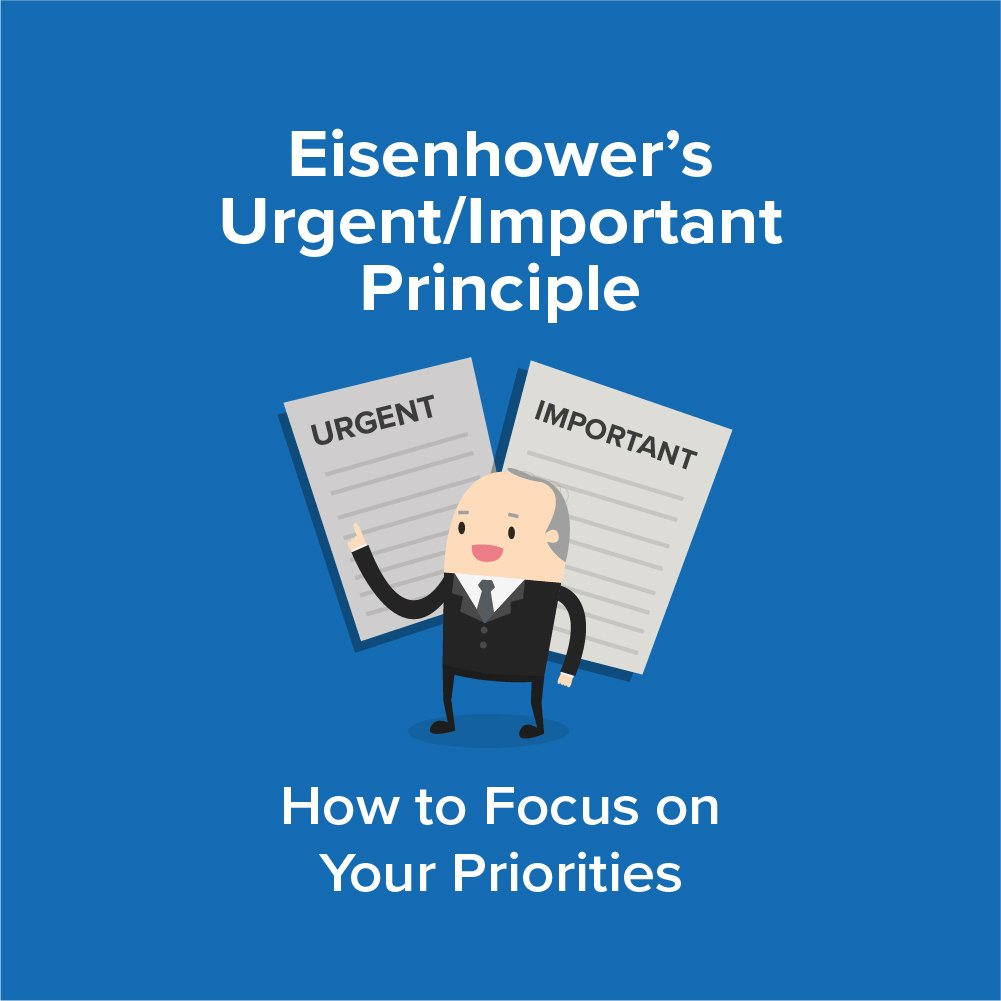 Eisenhower's Urgent/Important Principle Infographic