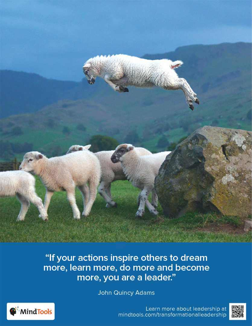 A sheep Jumping over the flock